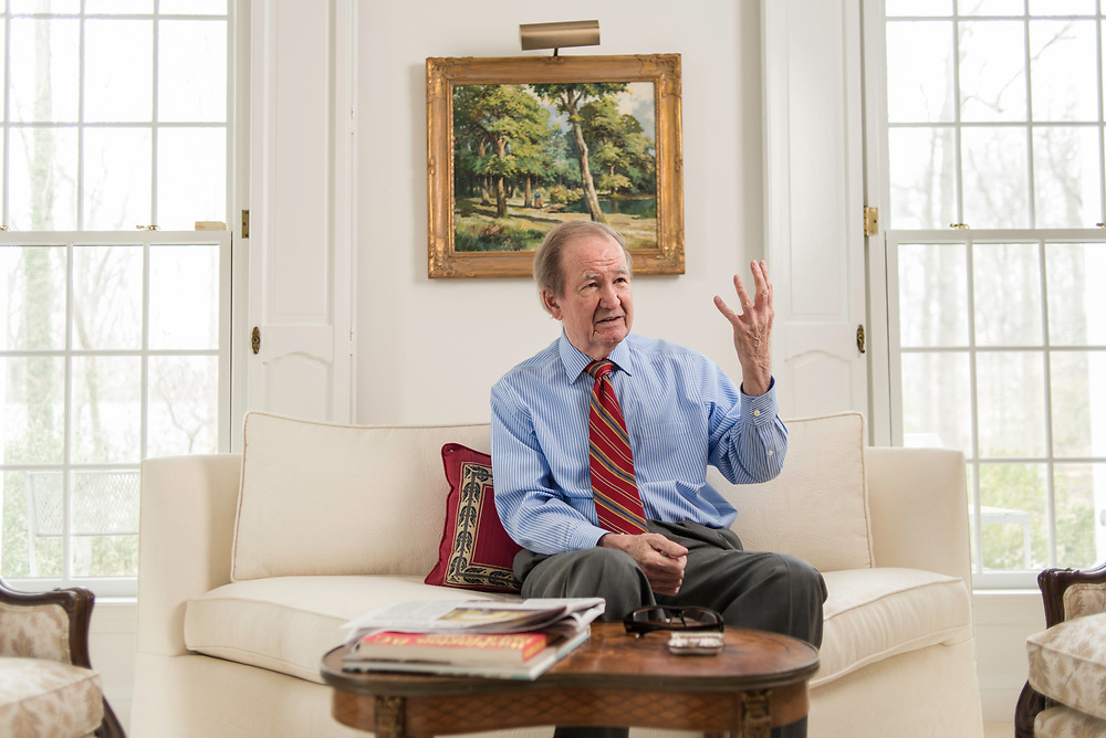 MCLEAN, VA -- 3/21/17 -- Respected conservative commentator Pat Buchanan reflects on his career at his home in McLean. .…by André Chung #_AC23929