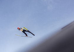 02.03.2019, Seefeld, AUT, FIS Weltmeisterschaften Ski Nordisch, Seefeld 2019, Skisprung, Mixed Team Bewerb, im Bild Markus Eisenbichler (GER) // Markus Eisenbichler of Germany during the mixed team competition in ski jumping of nordic combination of FIS Nordic Ski World Championships 2019. Seefeld, Austria on 2019/03/02. EXPA Pictures © 2019, PhotoCredit: EXPA/ Stefanie Oberhauser