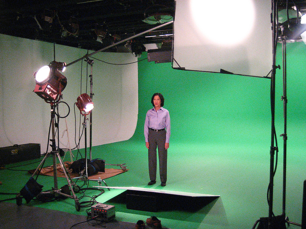 Behind the Scenes of a Green Screen Studio shoot. Rob Haley Director of Photography