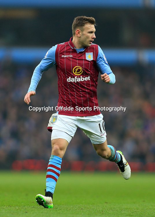 15th February 2015 - FA Cup 5th Round - Aston Villa v Leicester City - Andreas Weimann of Villa - Photo: Simon Stacpoole / Offside.