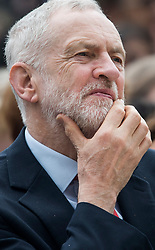 © Licensed to London News Pictures. 24/04/2018. London, UK. Labour Party leader JEREMY CORBYN attends the unveiling of a statue of Millicent Fawcett in Parliament Square, London. Dame Millicent, a leading Suffragist and campaigner for equal rights for women, is the first woman to be commemorated with a statue in Parliament Square. Photo credit: Ben Cawthra/LNP