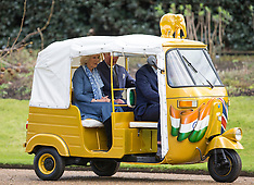 Prince of Wales- Duchess of Cornwall- ELephant Rickshaw-26-3-15