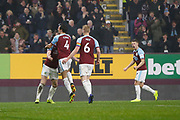 Goal celebration by Burnley's Jack Cork  during the Premier League match between Burnley and Liverpool at Turf Moor, Burnley, England on 5 December 2018.