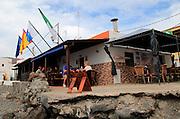 Small seaside cafe restaurant, Pozo Negro, Fuerteventura, Canary Islands, Spain