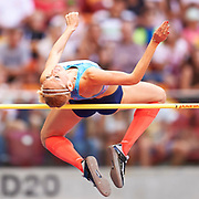 Poland, Warsaw - 2017 August 15: Kamila Licwinko (Podlasie Bialystok) of Poland competes in women&rsquo;s high jump during Memorial of Kamila Skolimowska at Stadion PGE Narodowy on August 15, 2017 in Warsaw, Poland.<br /> <br /> Mandatory credit:<br /> Photo by &copy; Adam Nurkiewicz<br /> <br /> Adam Nurkiewicz declares that he has no rights to the image of people at the photographs of his authorship.<br /> <br /> Picture also available in RAW (NEF) or TIFF format on special request.<br /> <br /> Any editorial, commercial or promotional use requires written permission from the author of image.