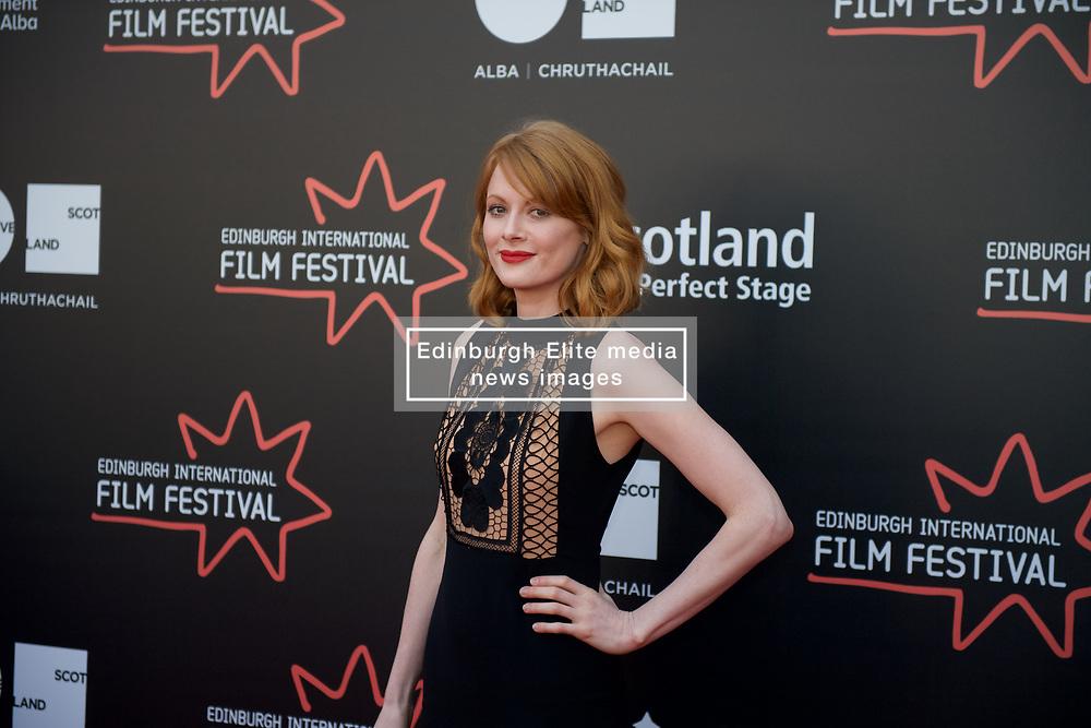 On the red carpet during the Edinburgh International Film Festival Premier of Daphne at Cineworld, Emily Beecham, Friday 23rd June 2017(c) Brian Anderson | Edinburgh Elite media