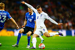 Ross Barkley of England shoots - Mandatory byline: Jason Brown/JMP - 07966 386802 - 09/10/2015- FOOTBALL - Wembley Stadium - London, England - England v Estonia - Euro 2016 Qualifying - Group E