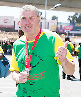 22/11/2015  repro fee. A group of  irish people travelled with Gorta-Self Help Africa travelled to the capital of Ethiopia Addis Ababa for the great Ethiopian run. In temperatures in the mid 30 degree heat and 40,000 people and a city at 7,500 feet above sea level, it's no mean feat.  Jimmy Cooke from Athleague Co. Roscommon   was the first Roscommon man across the line  .  Photo:Andrew Downes.