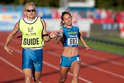 BOTURCHUK Oxana, Guide RYEMYEN Oleksly, 2014 IPC European Athletics Championships, Swansea, Wales, United Kingdom