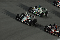 Ryan Briscoe, Dario Franchitti, Tony Kanaan, Cafes do Brasil Indy 300, Homestead Miami Speedway, Homestead, FL USA,10/2/2010