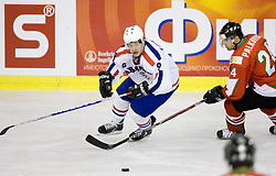 LOVRENCIC Marko of Croatia  vs PALKOVICS Krisztián of Hungary at IIHF Ice-hockey World Championships Division I Group B match between National teams of Hungary and Croatia, on April 20, 2010, in Tivoli hall, Ljubljana, Slovenia.  (Photo by Vid Ponikvar / Sportida)