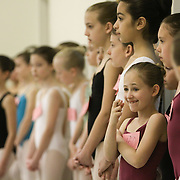 Lilah Duboff of Saratoga, 9, crosses her fingers as she waits to hear if she made it past the first cut, which she did, during the children's auditions for the New York City Ballet's SPAC performance<br /> of A Midsummer Night's Deam at the National Museum of Dance in<br /> Saratoga Springs April 25, 2010.
