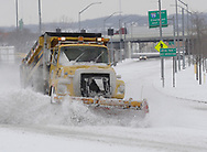 A city of Dayton snowplow works to clear Edwin C. Moses Blvd, near I-75, January 21, 2007.