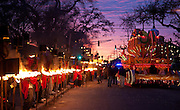 Flambeau carriers in Krewe of Orpheus parade