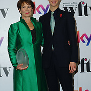 London Hilton, Park lane, England, UK. 1st December 2017. Celia Imrie attends the Sky Women in Film and TV Awards.