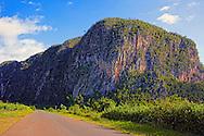 Road by mogote, El Moncada, Pinar del Rio, Cuba.