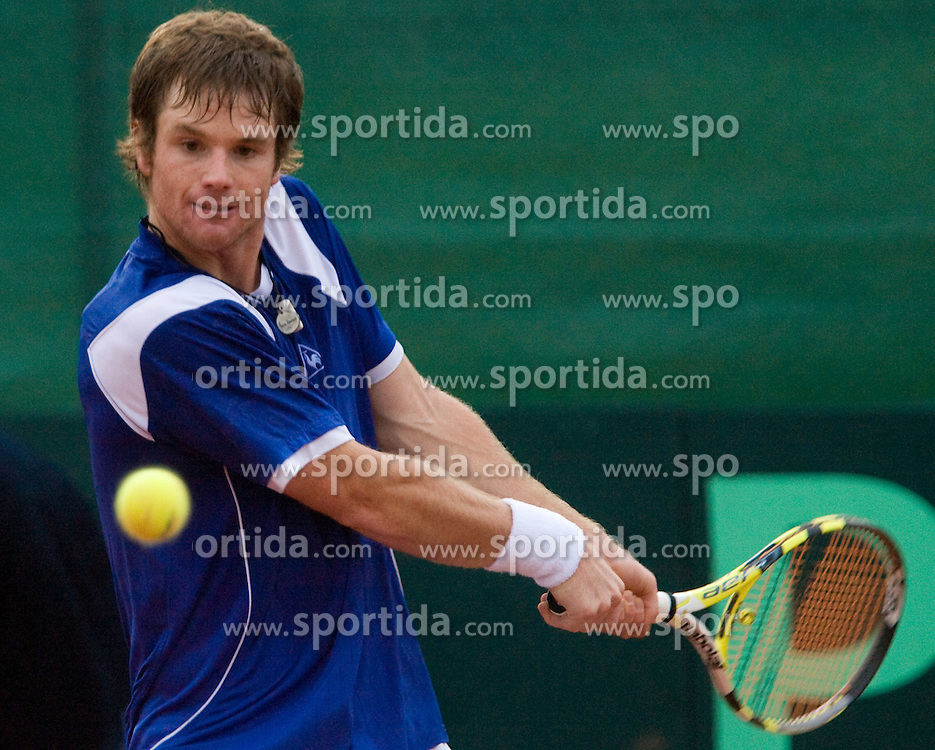 Blaz Kavcic of Slovenia at 2nd Round of 2nd Euroafrican group of Davis cup tennis match between Slovenia and Lithuania, on July 10 2009, in Otocec, Novo mesto, Slovenia. (Photo by Vid Ponikvar / Sportida)