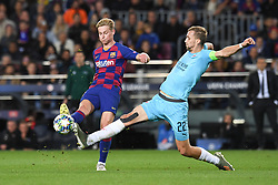 November 5, 2019, Barcelone, Espagne: FOOTBALL: FC Barcelone vs SK Slavia Praha - Champions League - 05/1012019.Frankie de Jong, Tomas Soucek. (Credit Image: © Panoramic via ZUMA Press)