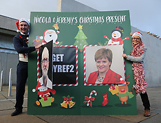 Scottish Conservatives unveil 'no indyref 2' giant advent calendar, Edinburgh, 4 December 2019