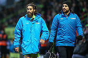 Forest Green Rovers Rob Sinclair(19)(Left) during the Vanarama National League match between Forest Green Rovers and Boreham Wood at the New Lawn, Forest Green, United Kingdom on 11 February 2017. Photo by Shane Healey.
