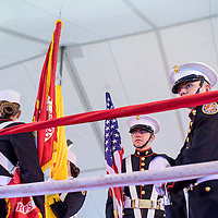 080115       Cable Hoover<br /> <br /> Ryan Lopez, center, and other members of the Grants High School Marine Corps ROTC color guard take their places as they prepare to post the colors for Fire and Ice Fury boxing in Grants Saturday.