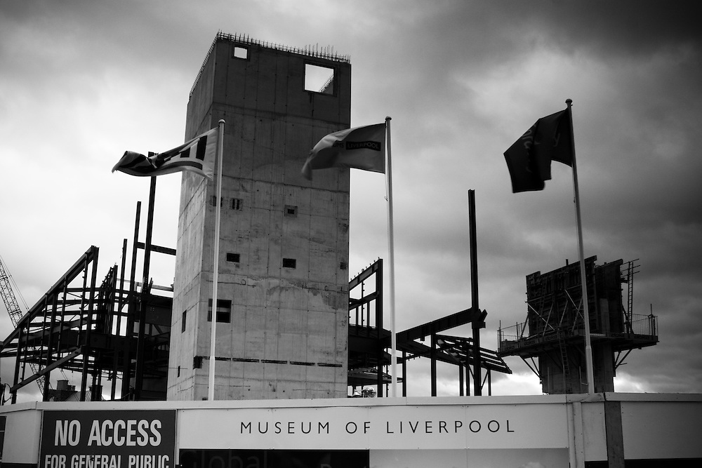 The new Museum of Liverpool being built.  Doesn't open till 2010 which is 2 years off. Barely anything here at the moment.