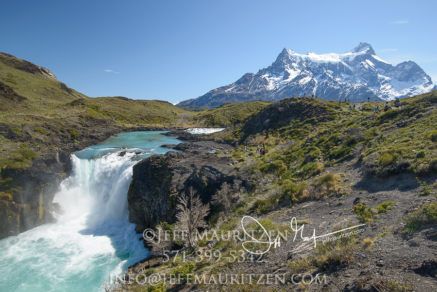 Salto Grande waterfall in Torres del Paine National Park, Chile.