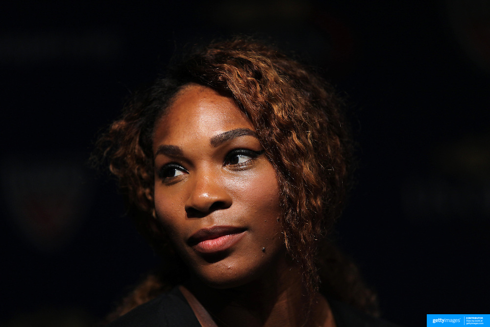 Defending US Open Champion Serena Williams at the 2013 US Open draw ceremony. Flushing. New York, USA. 22nd August 2013. Photo Tim Clayton