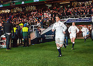 Captain Sarah Hunter leads the team out, England Women v Ireland Women in a 6 Nations match at Twickenham Stadium, Whitton Road, Twickenham, England, on 27th February 2016