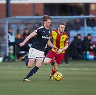 16th December 2017, Dens Park, Dundee, Scotland; Scottish Premier League football, Dundee versus Partick Thistle; Dundee's Mark O'Hara and Partick Thistle's Niall Keown