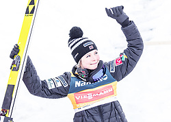 14.03.2019, Granasen, Trondheim, NOR, FIS Weltcup Skisprung, Raw Air, Trondheim, Einzelbewerb, Damen, Siegerehrung, im Bild Tagespodium Siegerin Maren Lundby (NOR) // day podium Winner Maren Lundby of Norway during the winner cermony for the ladie's individual competition of the 3rd Stage of the Raw Air Series of FIS Ski Jumping World Cup at the Granasen in Trondheim, Norway on 2019/03/14. EXPA Pictures © 2019, PhotoCredit: EXPA/ JFK