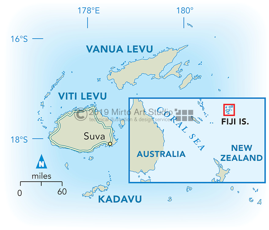 Vector map of Fiji