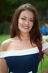 © Licensed to London News Pictures. 25/05/2016. LONDON, UK.   JESS IMPIAZZI pictured during a photocall for Guide Dogs for the Blind. The reality TV star's mother Debbie is registered blind.  Photo credit: Cliff Hide/LNP