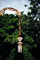 Various religious symbols and temples at Puja Mandala in Bali, Indonesia.