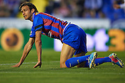 VALENCIA, SPAIN - MAY 10: Robert Acquafresca of Levante UD reacts during the Liga BBVA between Levante UD and Real Zaragoza at the Ciutat de Valencia stadium on May 10, 2013 in Valencia, Spain. (Photo by Aitor Alcalde Colomer).