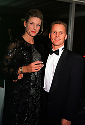 MR & MRS JOHNNY HERBERT, he is the Jaguar F1 driver, at a dinner in London on 25th January 2000.OAI 82