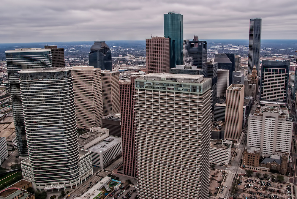 Downtown Houston featuring Exxon Building and former Enron Towers