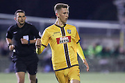 Sutton United's Adam May (12) with the Sun advertising during the The FA Cup match between Sutton United and Arsenal at Gander Green Lane, Sutton, United Kingdom on 20 February 2017. Photo by Phil Duncan.