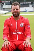 Arron Lilley during the Lancashire County Cricket Club T20 Media Day at the Emirates, Old Trafford, Manchester, United Kingdom on 1 June 2018. Picture by George Franks.