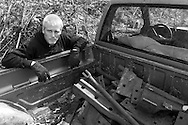 """The back of the truck is full of metal collected on this morning. """"I doesn't look like alot, but I can probably get at least $150 so I can buy food,"""" said Brian Croft. (© Matt Wright 2011)"""