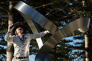 Mitsuo Takeuchi - Transfiguration Ring - Sculpture By The Sea, Cottesloe 2018 - Photograph by David Dare Parker