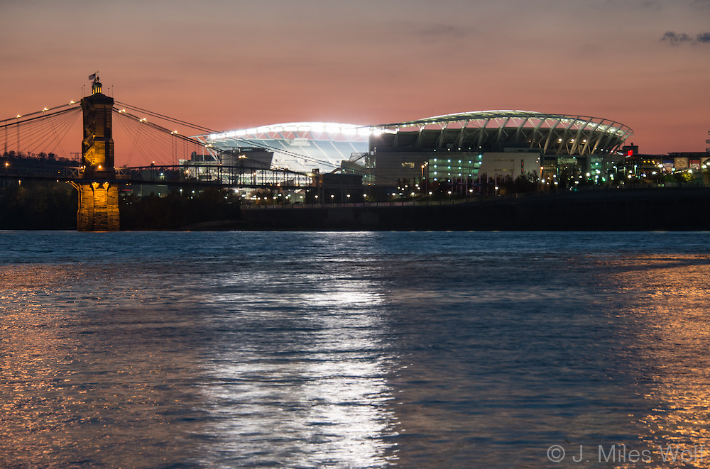 Paul Brown Stadium and the Ohio River