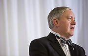 President Duane Nellis addresses the audience at the Alumni Awards Gala on October 6, 2017.