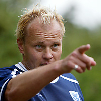 St Johnstone players back in pre-season training today, doing some tough hill running above Perth, pictured new player coach Mixu Paatelainen during training<br />see story by Gordon Bannerman Tel: 07729 865788<br />Picture by Graeme Hart.<br />Copyright Perthshire Picture Agency<br />Tel: 01738 623350  Mobile: 07990 594431