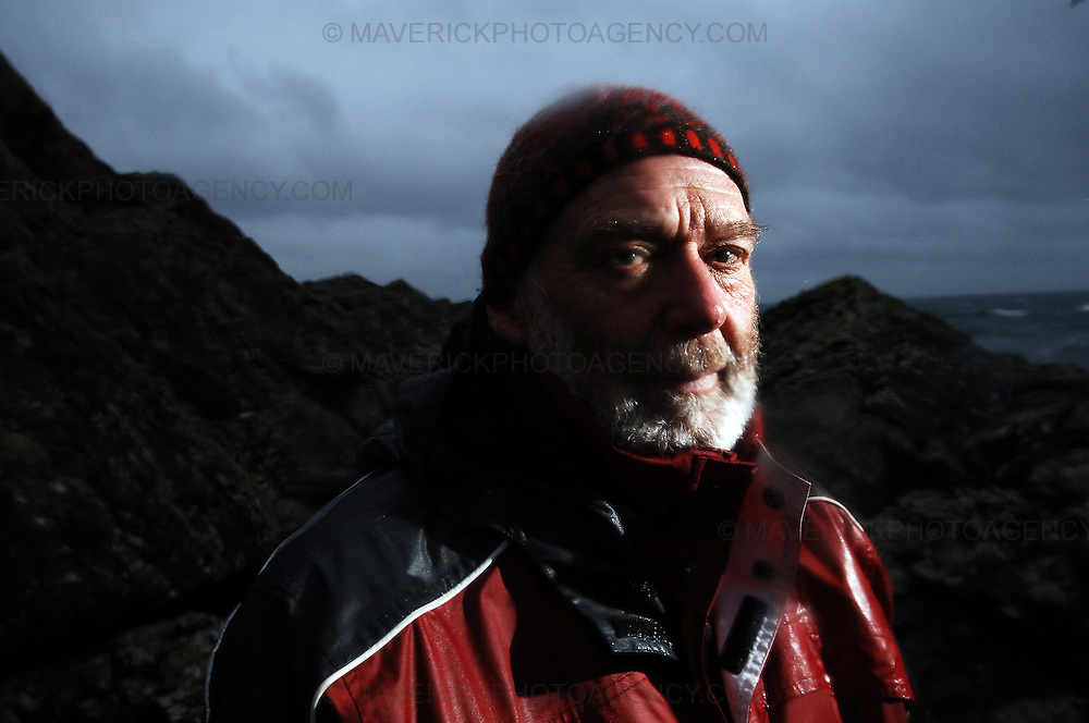 Englishman Stuart Hill, who set up home in Shetland after getting shipwrecked on its shores, believes that the Crown never gained full ownership of the islands, which were handed to Scotland by a Norwegian King in the 1400s in lieu of a dowry for a royal wedding.  He has taken ownership of a tiny Shetland island called Forewick Holm, renaming it Forvik and calling for it to be recognised as a Crown dependency - Shetland, Scotland, UK - 25th January 2009.