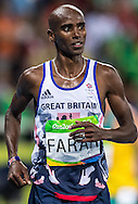 Mo Farah of Great Britain takes Gold to retain his title in the Men's 10,000m on day eight of the XXXI 2016 Olympic Summer Games in Rio de Janeiro, Brazil.<br /> Picture by EXPA Pictures/Focus Images Ltd 07814482222<br /> 13/08/2016<br /> *** UK & IRELAND ONLY ***<br /> <br /> EXPA-GRO-160814-5312.jpg