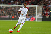 England's Ryan Bertrand on the ball during the UEFA European 2016 Qualifier match between England and Estonia at Wembley Stadium, London, England on 9 October 2015. Photo by Shane Healey.