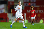 Leeds United Niklas Haugland (11)  during the FA Youth Cup match between U18 Manchester United and U18 Leeds United at Old Trafford, Manchester, England on 5 February 2020.