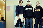 Moody looking teenage girls, Camden, London 2001