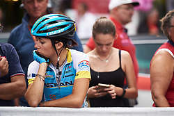 Lara Vieceli (ITA) comes to watch the podium at Giro Rosa 2018 - Stage 10, a 120.3 km road race starting and finishing in Cividale del Friuli, Italy on July 15, 2018. Photo by Sean Robinson/velofocus.com